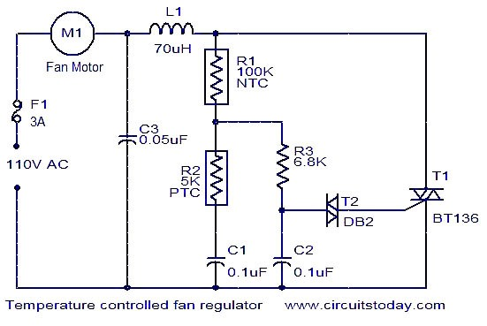 Controlled Fan Regulator Electronic Circuits And Diagram