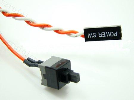 Desktop Computer Pc Case Power Button Sw Switch Cord Cable