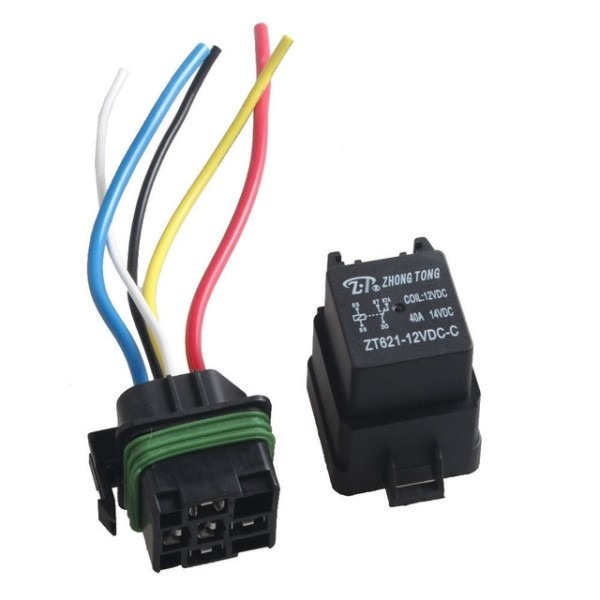 Ee Support Dc 12v 40a Spdt Relay Socket Plug 5pin 5 Wire