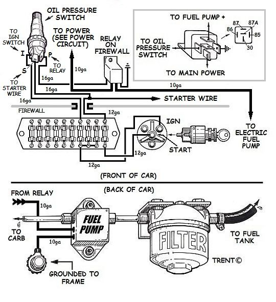 Electric Fuel Pump Relay Wiring
