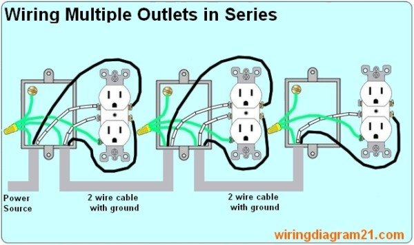 Electrical Wiring Plugs In A Series