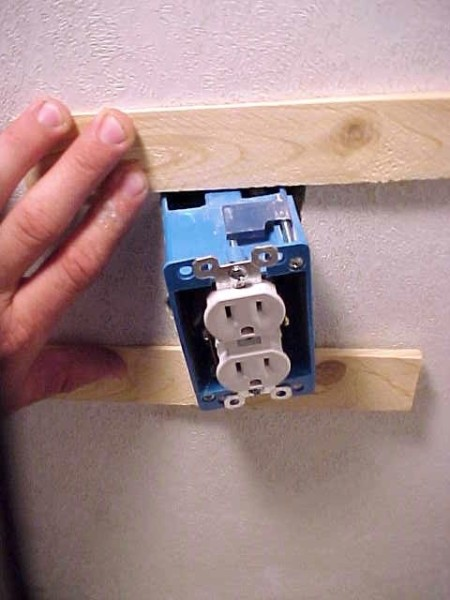 Fixing A Loose Electrical Outlet Box