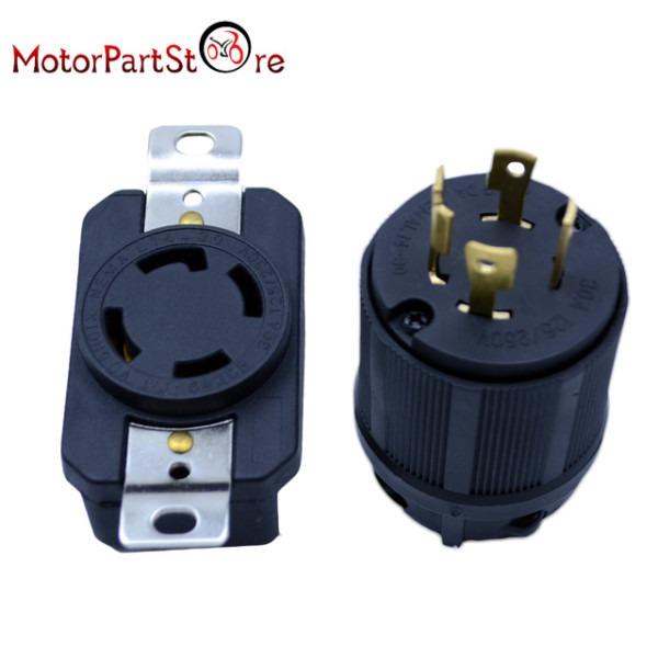 Generator Rv Ac Plug & Socket L14 30 30 Amp 120v 220v Male