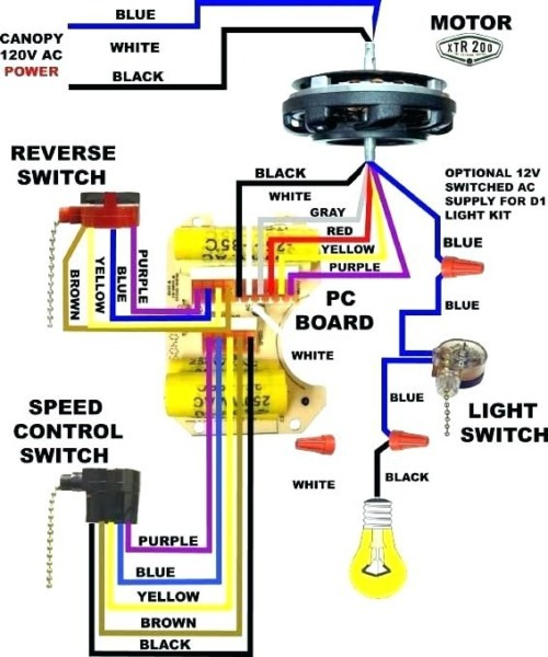 Hampton Bay Ceiling Fan Switch Bay Ceiling Fan Electrical Wiring
