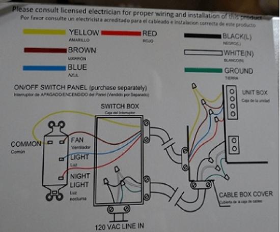 Hampton Bay Fan Wiring Diagram