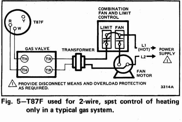 Heating Cooling Thermostat Wiring Diagram Wall