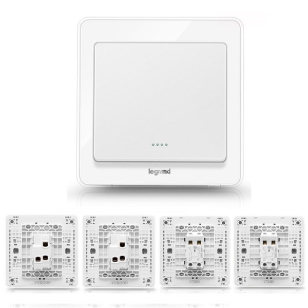 High Quality 1 Gang 4 Way Wall Switch Kits Crystal White 86type