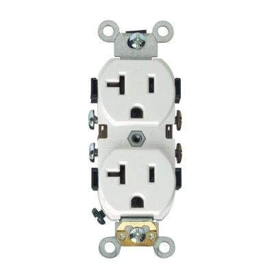 Homelectrical 20 Amp Duplex Receptacle Outlet, White