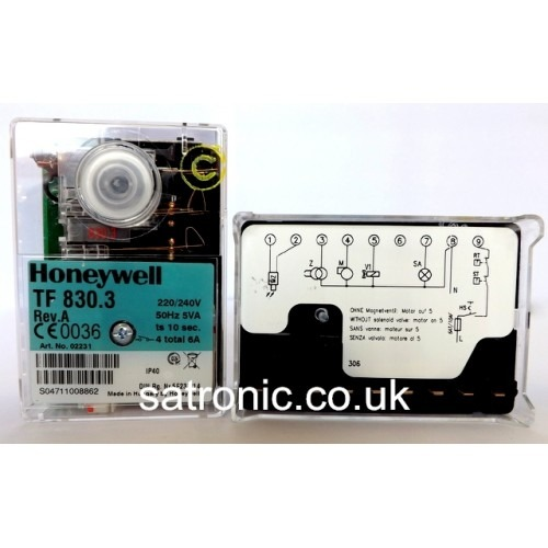 Honeywell   Satronic Control Box Tf 830 3 Oil 220 240v