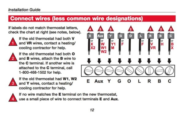 Installing A Honeywell Thermostat Instructions