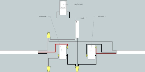 House Wiring Black White Red