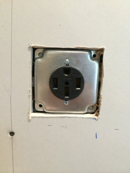 How To Finish Around 220v Receptacle