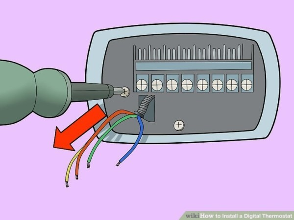Diagram How To Replace A Thermostat With Pictures