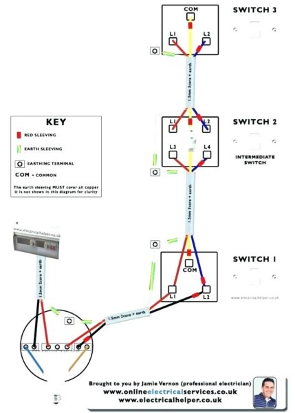 3 Gang 1 Way Switch Wiring Diagram