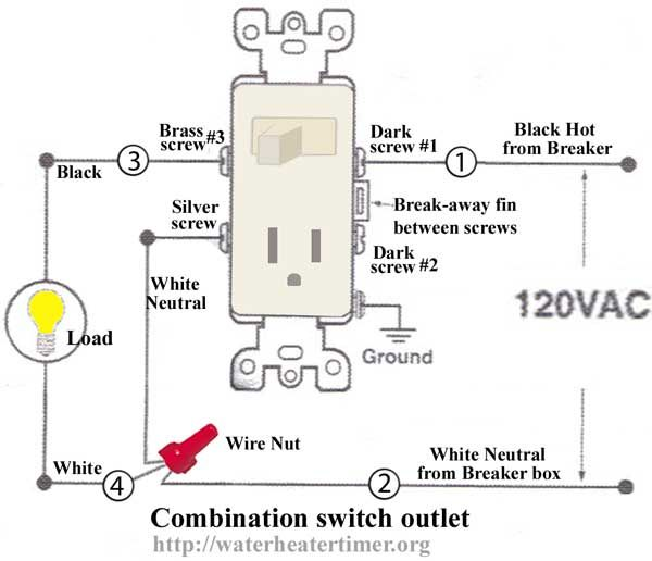 How To Wire Switches Combination Switch Outlet + Light Fixture