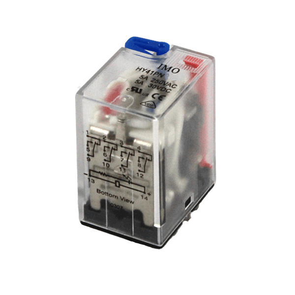 Imo Hy Relays 4pco 5a, 110vac Coil Plug