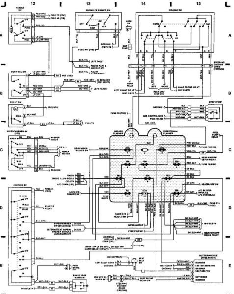 Jeep Wrangler Dash Wiring Diagram