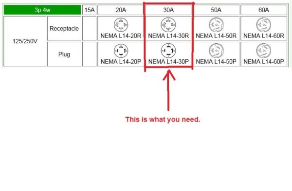 L14 30 To Nema 6 20 Wiring