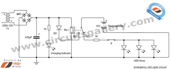 Led 12v Emergency Light Circuit Diagram