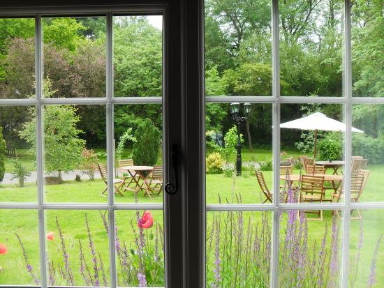 Looking Out Into The Garden At The Three Ways