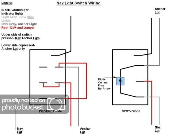 wiring rocker light switch