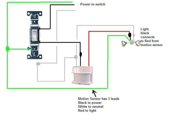Motion Sensor Light Switch Wiring Diagram