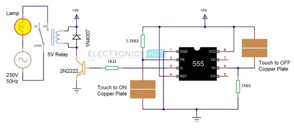 On Off Touch Switch Diagram