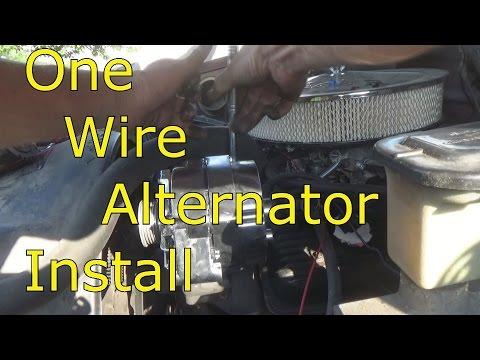 One Wire Alternator Install