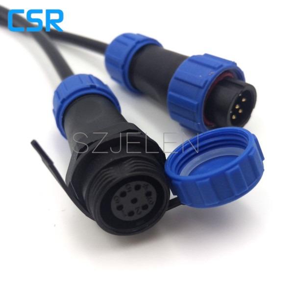 Online Shop Sp1310, Waterproof Connector 7 Pin,ip68, Led Power