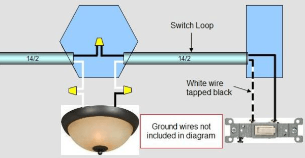 Power Entering Recessed Light Then Switch