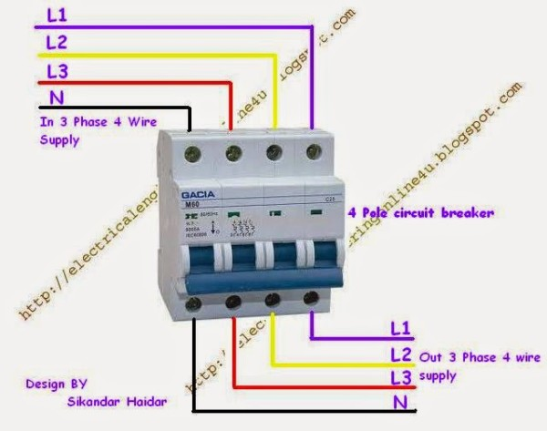 Rcd 3 Pole Breaker Wiring Diagram   33 Wiring Diagram Images
