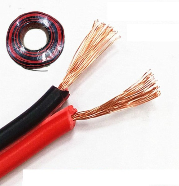 Red Black Copper Wire 2x 0 75 Led Strip Monitor Power Cable