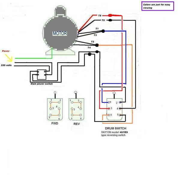 Relay Wiring Diagram Single Phase Motor Reversing Switch Wiring