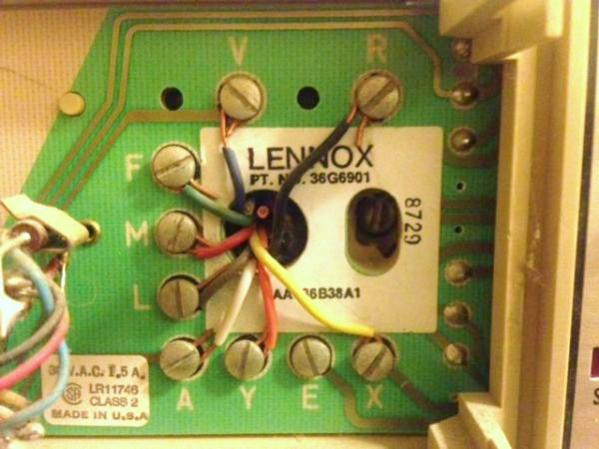 lennox heat pump thermostat wiringreplacing lennox thermostat with nest w pictures