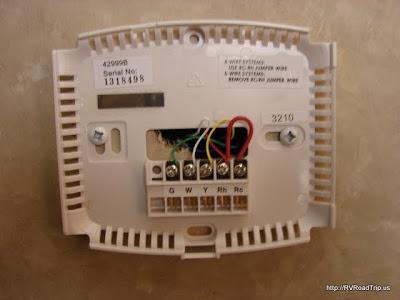 Rv Digital Thermostat Installation   Coleman And Suburban