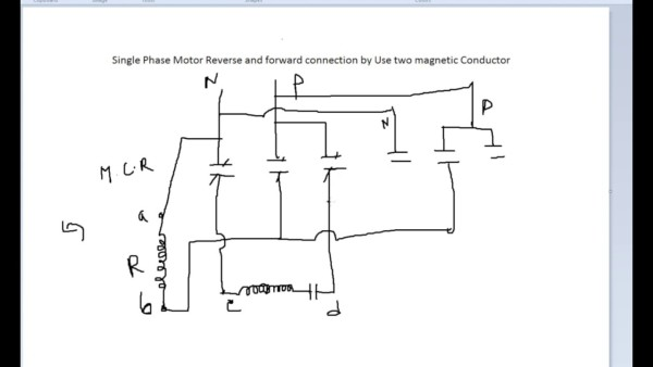 Single Phase Forward Reverse Wiring Diagram