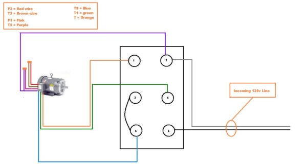 Single Phase Motor Wiring Diagram Forward Reverse