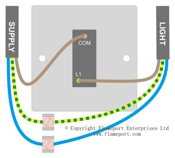 Single Switch Wiring Diagram Uk