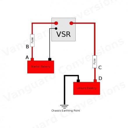 Split Charge Relay Kit 12v Durite 140amp