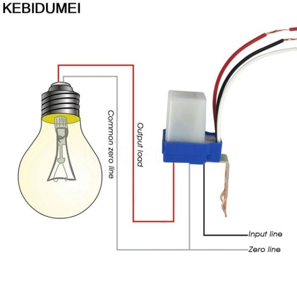 Switch Automatic Auto On Off Photocell Light Switch Dc Ac 220v