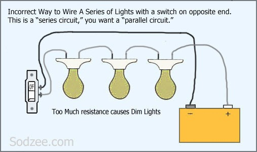 Switch For Series Circuit Lights Bad At Simple Light Wiring