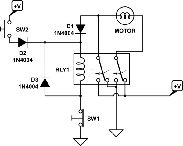Switches Change Direction Of 12v Dc Motor Rotation Using Relay