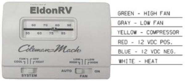 Thermostat, Standard, Analog 12v 6
