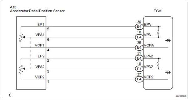Toyota Sienna Service Manual  Throttle   Pedal Position Sensor