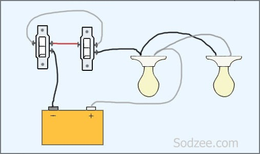 Two Way Lighting Circuit Wiring Diagram