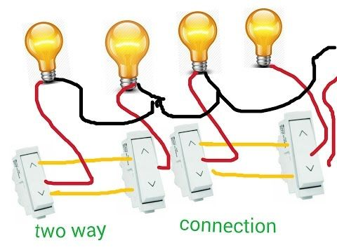 Two Way Switch Connection For Many More Lights In Hindi (hindi