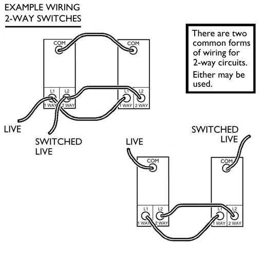 Two Way Wiring Light Switch Wiring Common