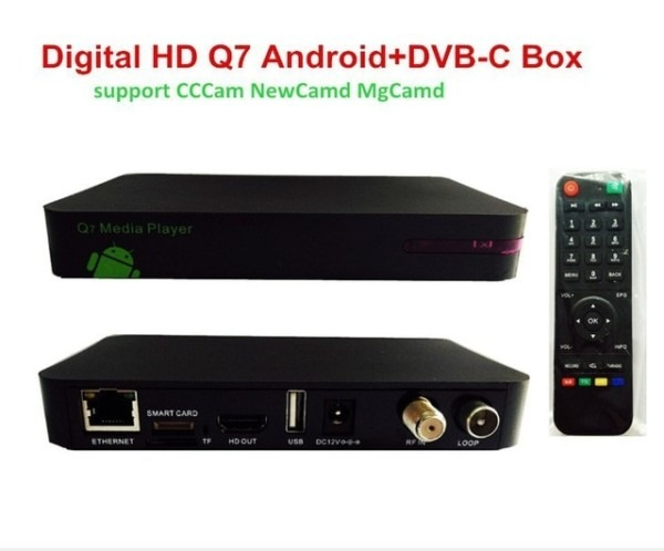 Uk Nl Receiver Hd Digital Cable Box Q7 Android Dvb C Tv Box Cccam