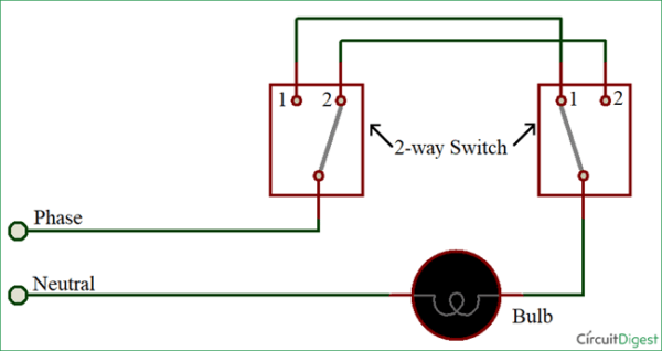 Way Switching By Wire Method How To Wire A Two Way Switch