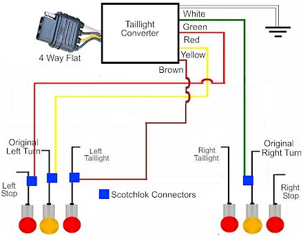 Way Towed Vehicle Trailer Tail Light Wiring